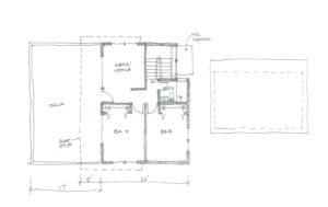 In the space created by lifting the house, two new bedrooms, bath and living space will take shape in the Seattle renovation by Fuller Living Construction.
